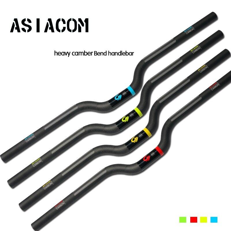 Новейший ASIACOM складной велосипед matt + gloss 3K полностью углеродное волокно для велосипеда Тяжелая развязка изгиб руль 25,4/31,8*600-740 мм Бесплатная доставка
