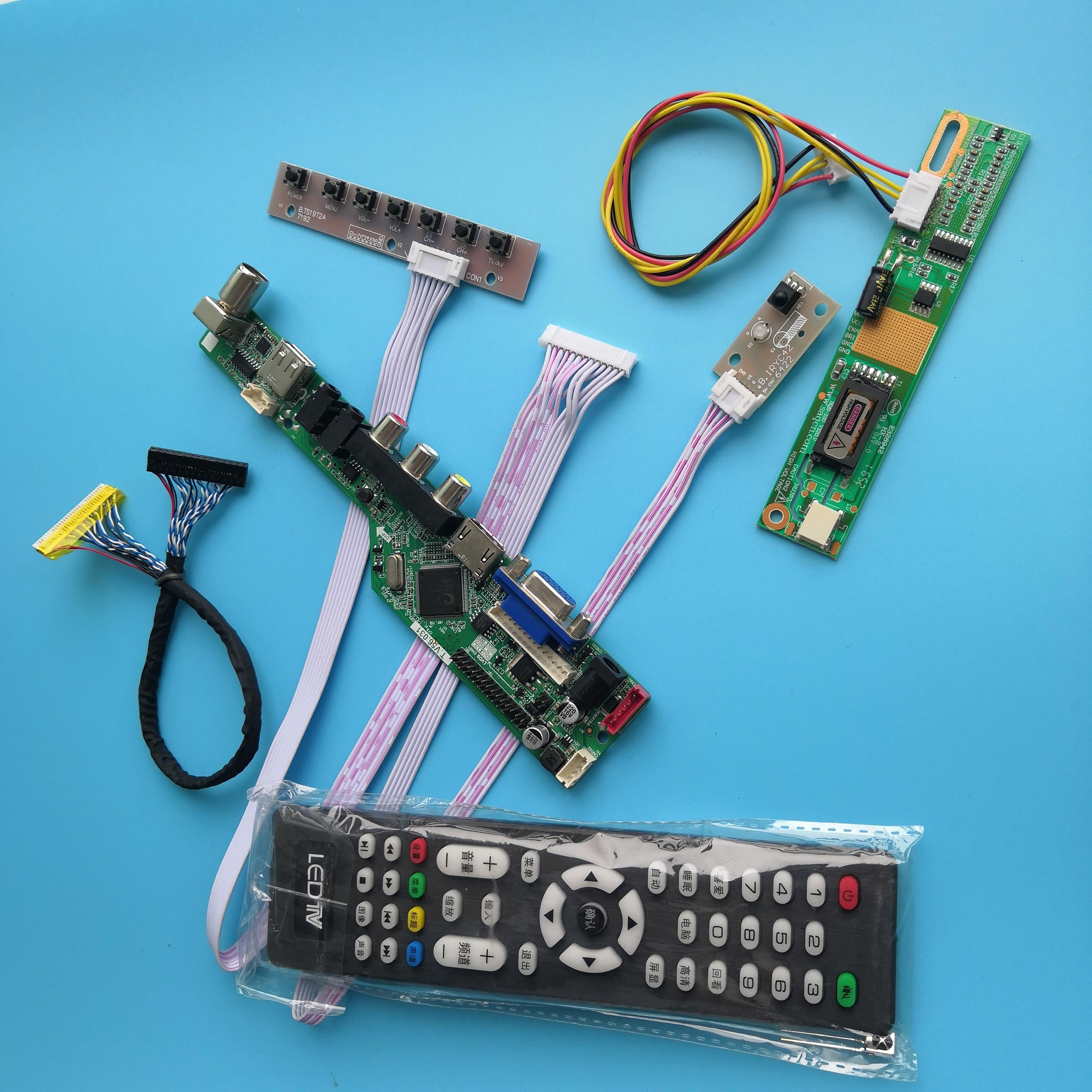 لوحة تحكم تلفزيون مع 30 دبوسًا ، لوحة أم للوحدة B141PW01 V2 ، دقة إشارة رقمية 1 مصباح 14.1 بوصة AV VGA 1440X900