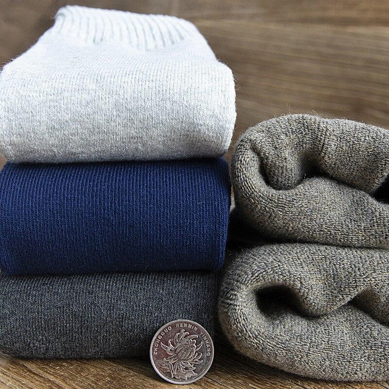 Men's long tube terry socks cotton thickened leg socks winter Plush warm knee socks high tube compression men's socks enlarge
