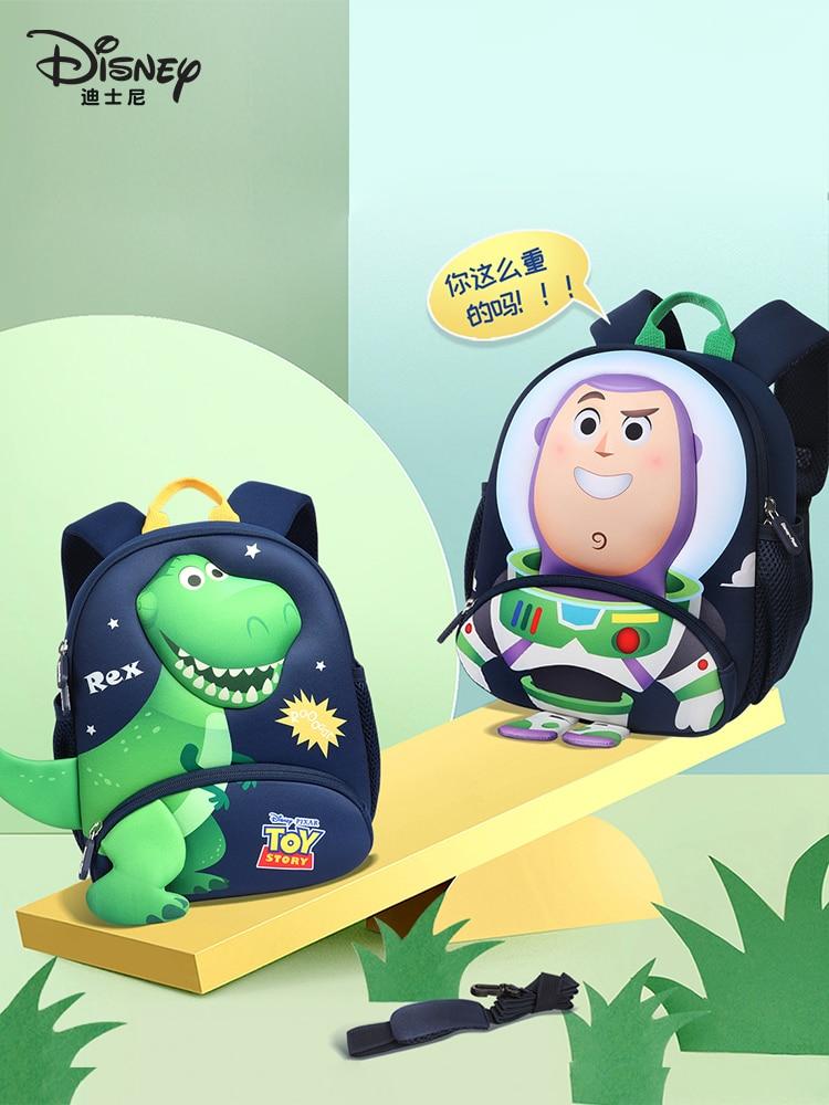 Authentic Disney Kindergarten Schoolbag Children Lightweight Boy Three-dimensional Travel Cartoon Outing Cute Anti-lost Backpack
