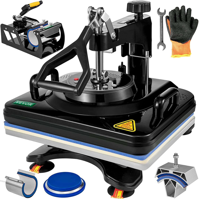 5x12 بوصة الحرارة الصحافة آلة 5 في 1 الحرارة الصحافة 30x38 سنتيمتر المهنية متعددة الوظائف الرقمية الساخن آلة تسامي ل غطاء القدح