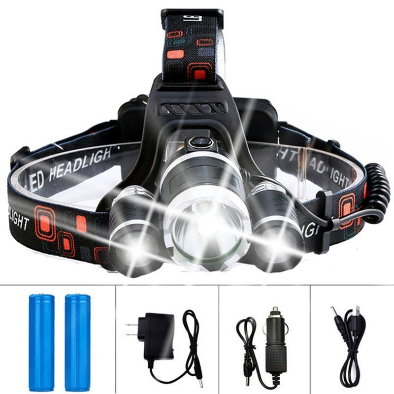 AliExpress - Dropshipping LED Headlamp Headlight Flashlight Rechargeable 3 T6 R5 LED Hard Hat Headlight Battery Car Wall Charger for Camping