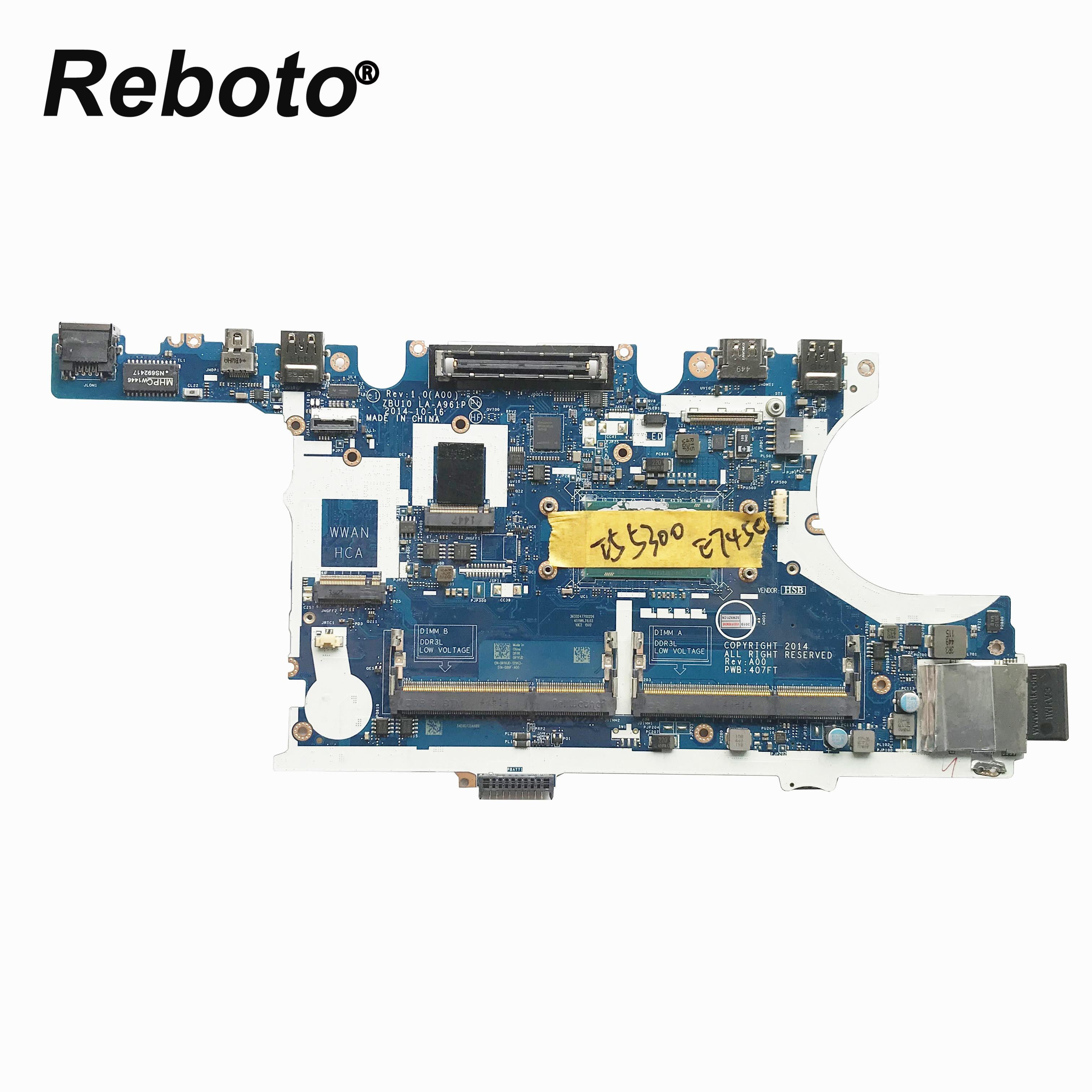 Оригинальная материнская плата для ноутбука DELL Latitude E7450 CN-0R1VJD 0R1VJD R1VJD ZBU10 LA-A961P с I5-5300U процессором DDR3L MB 100% протестирована