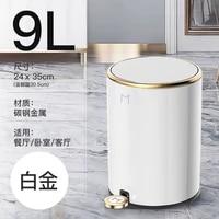 europe creative living room trash can luxury foot operated waste bin northern kitchen cubo de basura garbage bin di50ljt