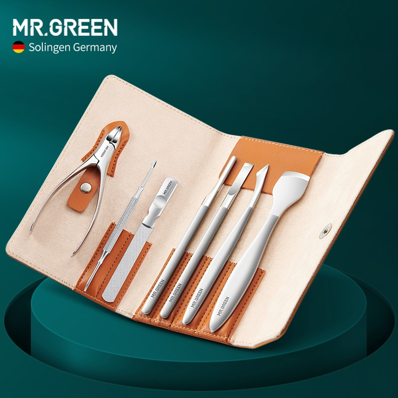 MR.GREEN Pedicure Tools Professional Foot Set Kit Feet Care Tools Stainless Steel Ingrown Toenail Nail Nippers Dead Skin Remover