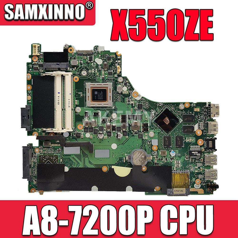 X550ZE W/ A8-7200P CPU اللوحة ل ASUS VM590Z A555Z X555Z X550ZE X550ZA X550Z X550 K550Z K555Z اللوحة المحمول 100% اختبار