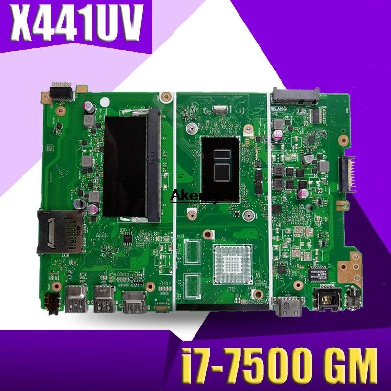 X441UV X441UA اللوحة الأم ل ASUS X441U X441UV X441UAK F441U A441U اللوحة المحمول دفتر اختبار i7-7500 GM