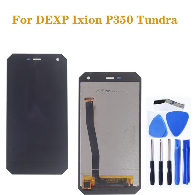 Original display lcd para dexp ixion p350 tundra display lcd + touch screen digitador assembléia peças de reparo do telefone móvel