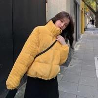corduroy jacket women outwear winter warm trend parker coat jacket short casual fashion women high quality cotton jacket