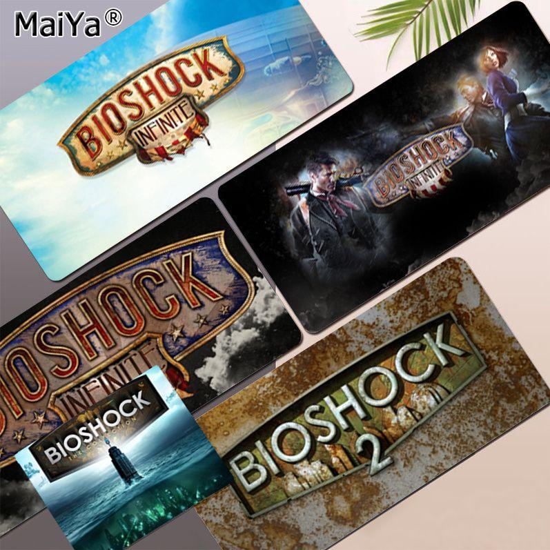 Новое поступление, прочный резиновый коврик для мыши с логотипом BioShock, размер для клавиатуры, коврик для мыши, коврик для мыши, подарок для п...