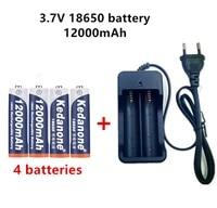 18650 battery rechargeable battery 3 7v 18650 12000mah capacity li ion rechargeable battery for flashlight torch batterycharger