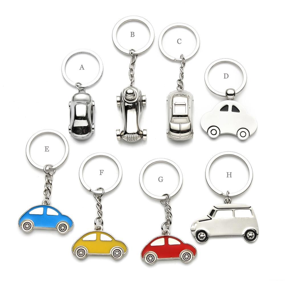 سلسلة مفاتيح شخصية على شكل سيارة صغيرة للضيوف ، 100 قطعة ، هدايا أعياد الميلاد ، مع شعار محفور