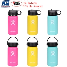 12oz Hydro Water Bottle Flask Vacuum Insulated Wide Mouth Travel Portable Thermal Bottle Stainless S