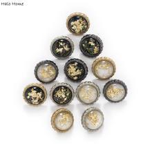 5 pçs redondo lantejoulas céu estrelado metal haste botões costura scrapbooking casa roupas substituir artesanato artesanal camisa decoração 12.5mm