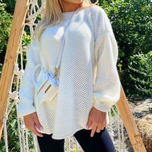 Autumn 2021 Fashion Sweate Women Western Style Temperament Casual Simplicity Round Neck Long Sleeve