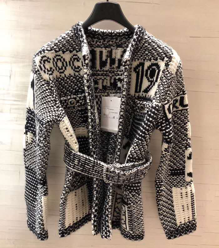 Wool 2020 Autumn Winter Elegent Classic Knitted Cardigan Sweater for Woman Clothing Luxury Designer Street Wear enlarge
