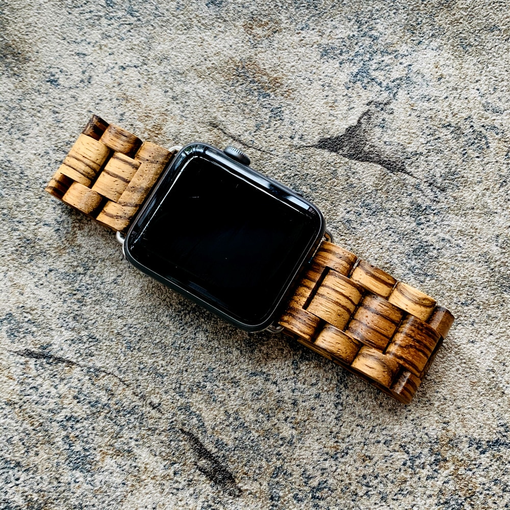 Retro Bambus Holz Band Für Apple Uhr Strap Holz 38mm 40mm 42mm 44mm Armband Apple iWatch uhrenarmbänder Holz Serie 1 2 3 4 5