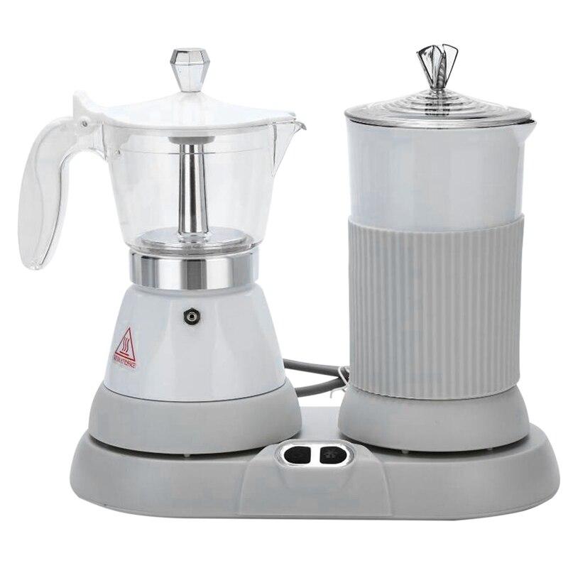 ماكينة القهوة الكهربائية الإيطالية المنزلية الصغيرة التلقائي آلة مزبد الحليب بطيئة استخراج الايطالية براد لصنع الموكا