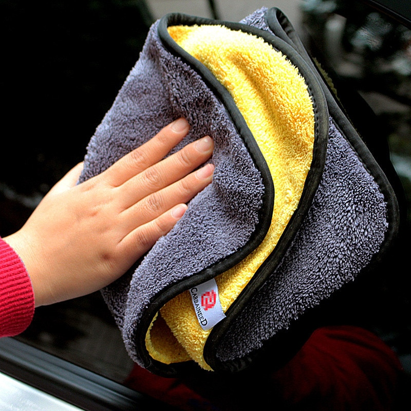 Microfiber Auto Wash Towel Car Cleaning Drying Cloth Hemming Car Care Cloth Detailing Car Wash Towel 30x30/40/60CM