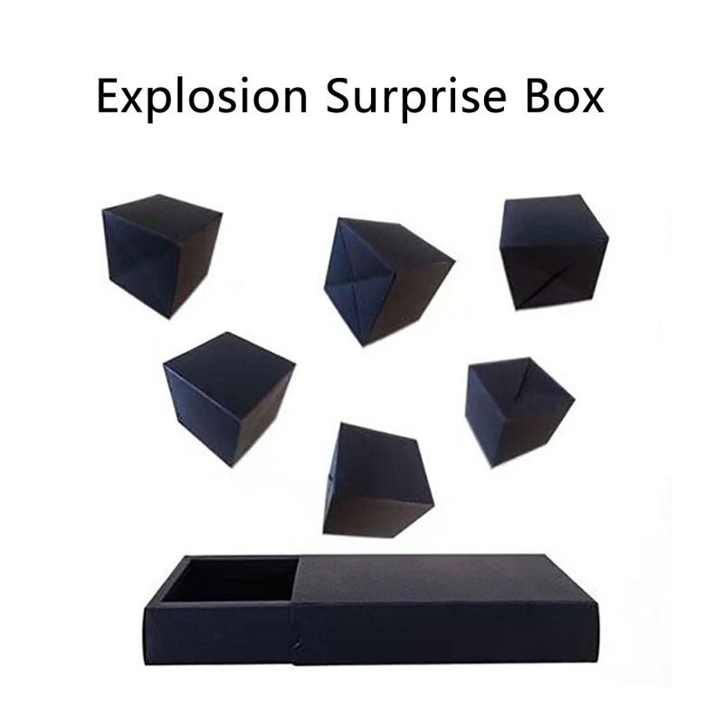 Black Pops Up Explosion Box DIY Gift Box Photo Album Scrapbook Jump Book Birthday Wedding Surprise Present Creative Box photo box gift box explosion romantic surprise box paper album scrapbook