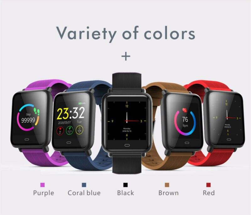 Reloj de pulsera inteligente Q9 resistente al agua pulsera de ritmo cardíaco rastreador deportivo de Fitness G