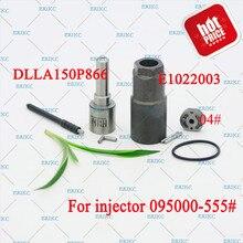 ERIKC 095000-5550 مجموعات إصلاح حاقن الديزل تشمل DLLA150P866 ، 04 # لوحة صمام لدينسو هيونداي 095000-5550 3380045700