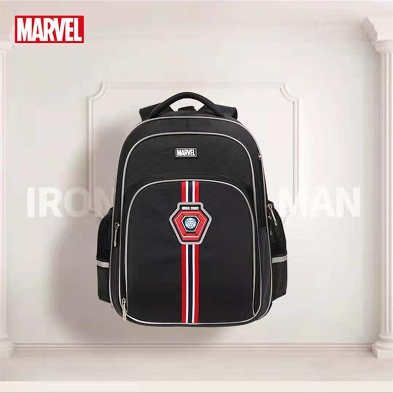 Disney Marvel School Bags For Boys Primary Student Shoulder Orthopedic Backpack Grade 1-5 Large Capacity Spider Man Mochilas