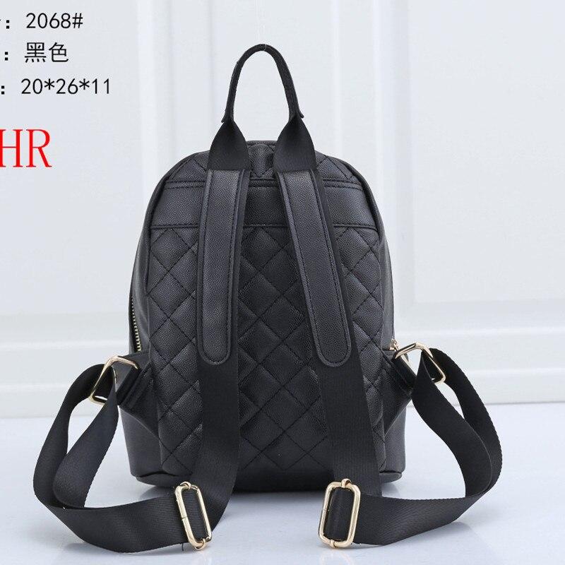 2068 Women Backpack high quality Leather Women Bag Fashion School Bags Travel Backpacks mochila