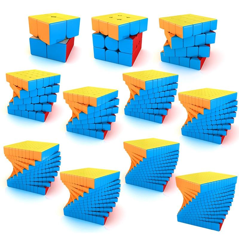 meilong moyu cubo magico 4x4 5x5 6x6 7x7 8x8 9x9 10x10 11x11 12x12 13x13 15x15 stickerless