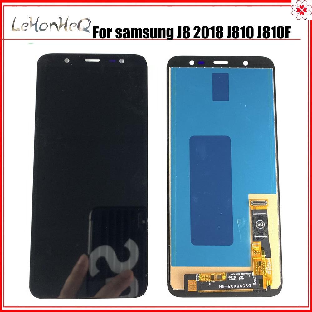 Nueva pantalla LCD TFT Incell para Samsung J8 2018 J8 J800 J800F/Y pantalla LCD, ensamblaje digitalizador de pantalla táctil para Samsung J810 LCD
