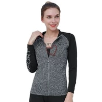 ladies coat movement sweatshirts to dance running fitness slim long sleeved clothes aerobic exercise breathable jacket