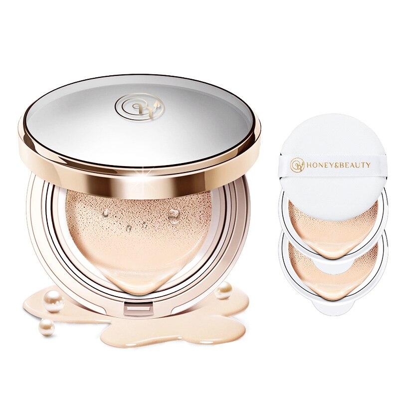 Естественная воздушная Подушка BB CC крем консилер изоляция Увлажняющая Основа отбеливающий макияж голый для лица красота макияж