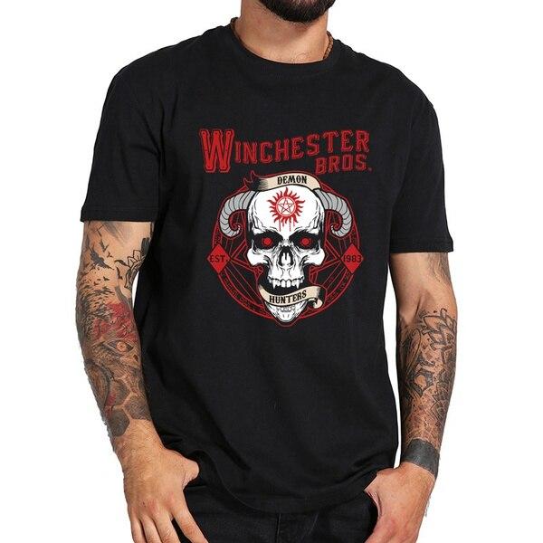 Мужская футболка с демоническим черепом, Мужская футболка, Мужская футболка с круглым вырезом, футболка