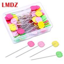 LMDZ 50/100 Pcs/Box 패치 워크 핀 위치 바늘 바느질 마커 바늘 양재 핀 DIY 수제 의류 액세서리 만들기