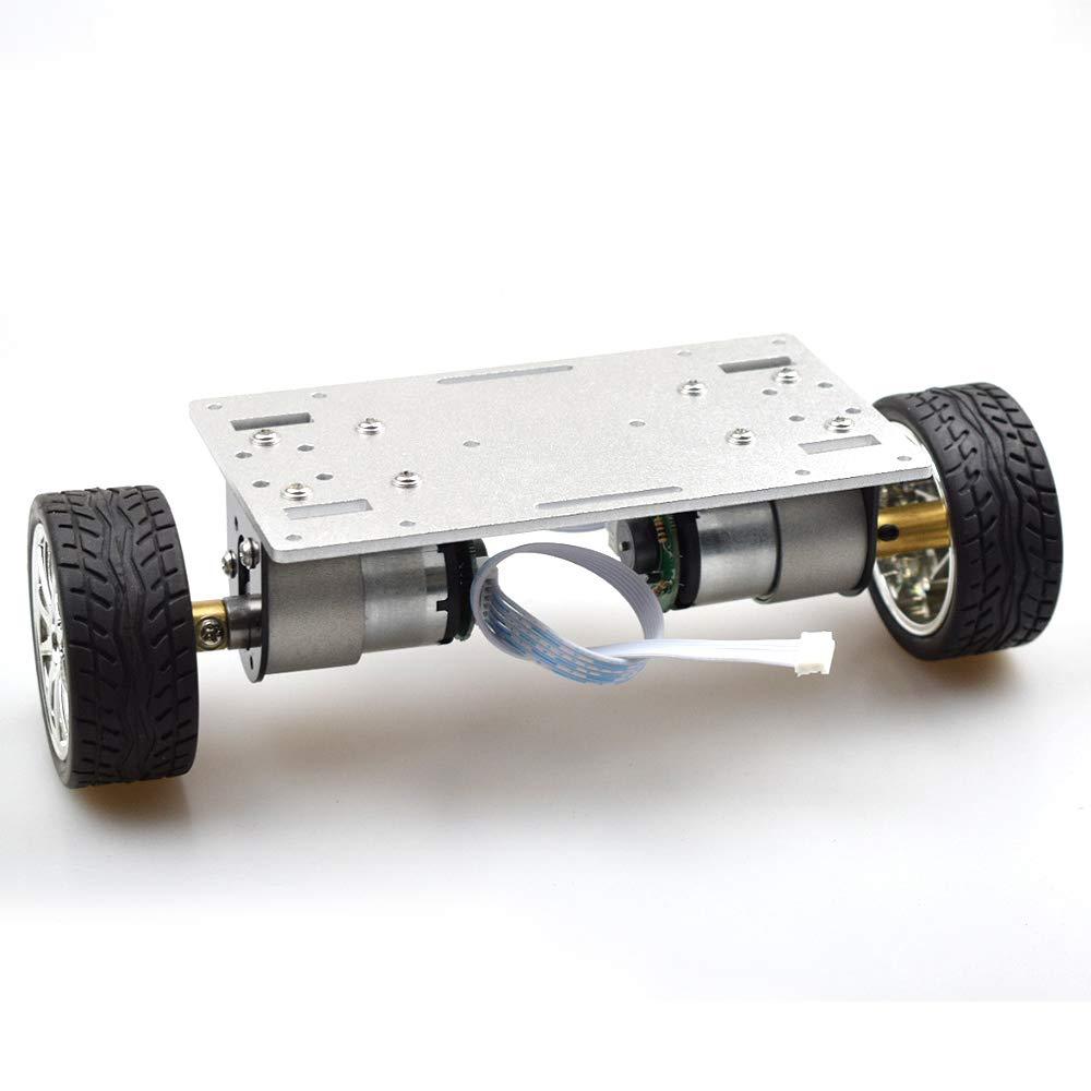 2WD لتقوم بها بنفسك الذاتي موازنة روبوت عدة مع 2 قطعة المحرك Enocder لوحة معدنية هيكل السيارة الإطار المصغر اثنين من محرك 2 عجلات التكنولوجيا اللعب
