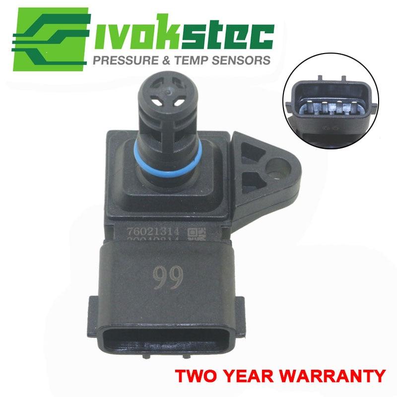Sensor de presión de colector 4 BAR de alta calidad para Peugeot KIA, Citroën, Hyundai 80018383, 5WK96841, 2045431, 5WY2833A
