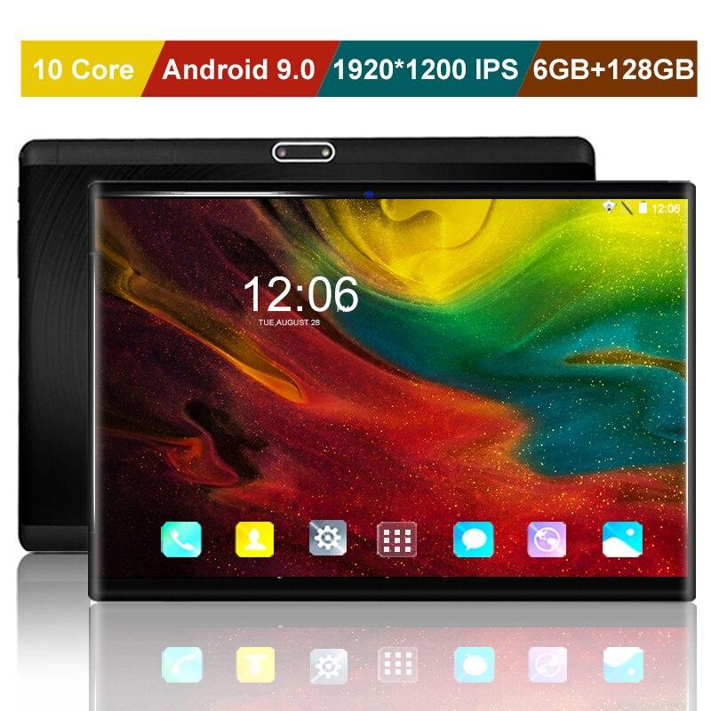 "Nuevo 10 core 1920*1200 IPS de 10 pulgadas 4G LTE Tablet PC Android 9,0 6GB + 128GB tarjeta SIM Dual WIFI Google Play tabletas inteligentes 10,1 ""+ regalo"