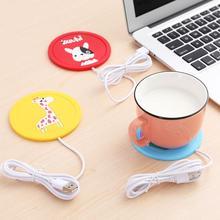 Cartoon silikonowe ogrzewanie Coaster przenośny USB kawy termo Hot utrzymać mleko napój cieplej podkładka kubek kubki na napoje podgrzewacz Ma E3M1