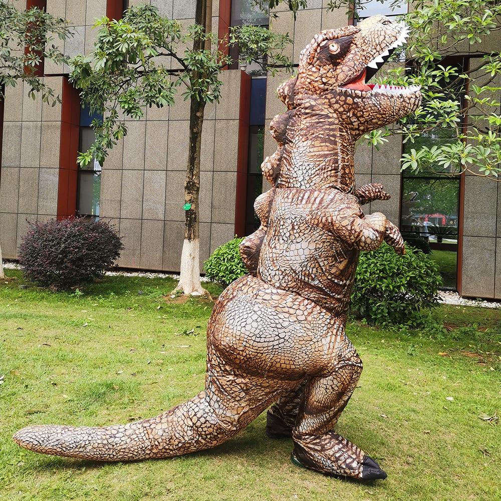 زي تنكري للحفلات للبالغين زي T-rex قابل للنفخ بدلة ديناصور بوريم لعب الأدوار Disfraz ملابس مرحة للمسرح