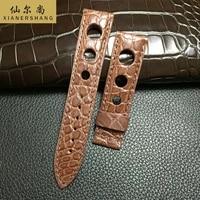 xianershang luxury genuine alligator strap men custom brand watch band 21mm 22mm 23mm 24mm waterproof crocodile skin watchbands