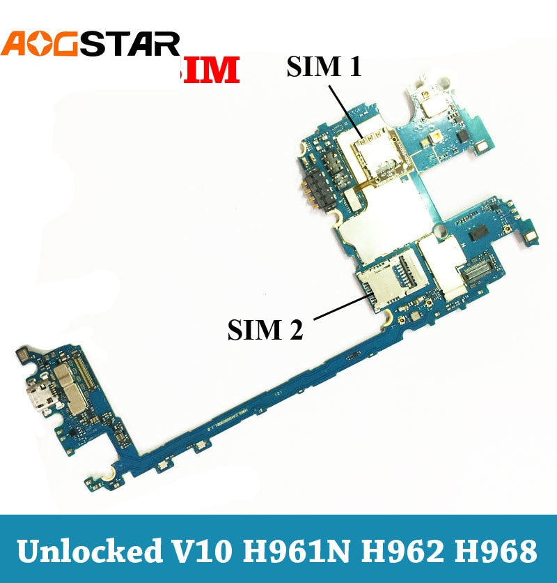 Aogstar desbloqueado Dual Sim Panel electrónico móvil placa base circuitos de placa base Cable flexible para LG V10 H961 H962 H968