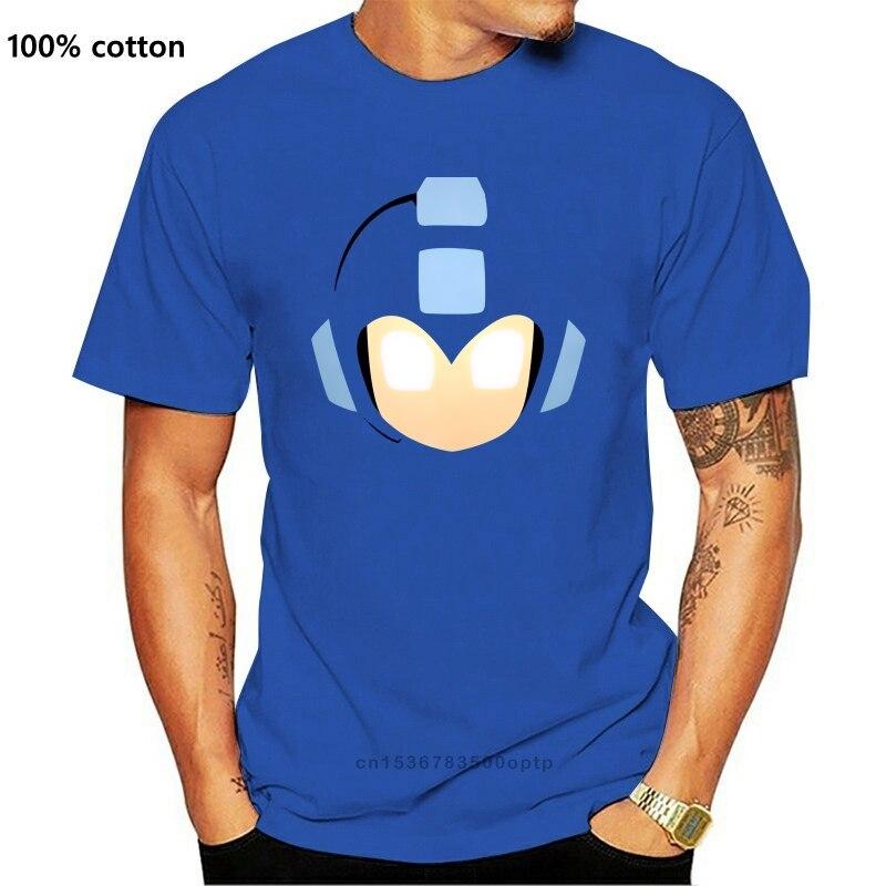 Camiseta Retro de Megaman Face para hombre, nueva