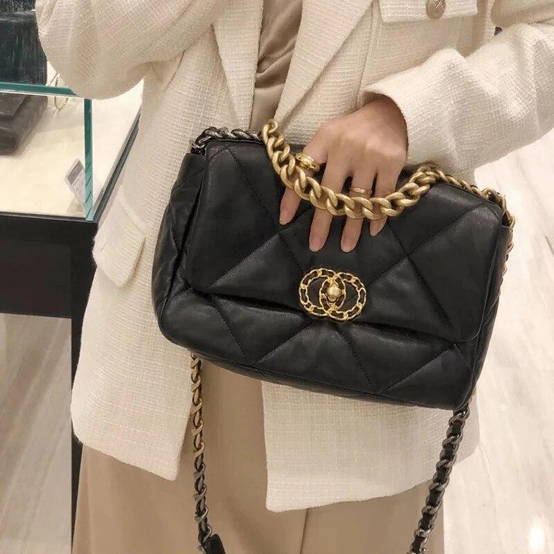 المرأة حقيبة يد جلدية موضة فاخرة حقيبة كتف حقيبة ساعي الرجعية مساحة كبيرة لينة حقيبة جلدية شعبية الإناث