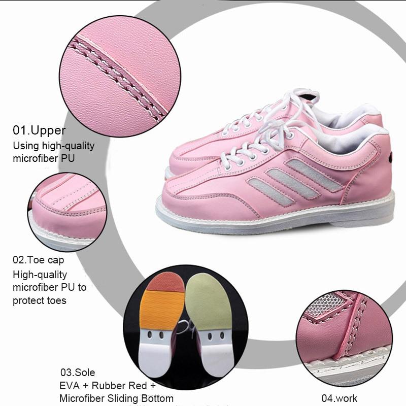 Sport Bowling Shoes Supplies Women Bowling Shoes Sneaker Sport Shoes Woman Flat Leather Shoes ALS88