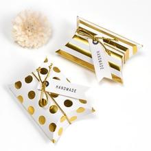 10 stücke förderung Kissen Form kraft schmuck candy Box handwerk papier Hochzeit Favor Geschenk pie Partei taschen eco freundliche