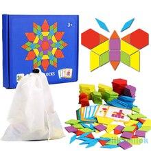 155 stücke Holz Jigsaw Puzzle Bunte Baby Montessori Pädagogisches Spielzeug Kinder Lernen Entwicklung Spielzeug Jungen Mädchen Urlaub Geschenke
