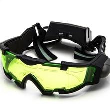 Ayarlanabilir LED gece görüş cam gözlük motosiklet motosiklet yarış avcılık gözlük gözlük Flip-out hafif rüzgar geçirmez