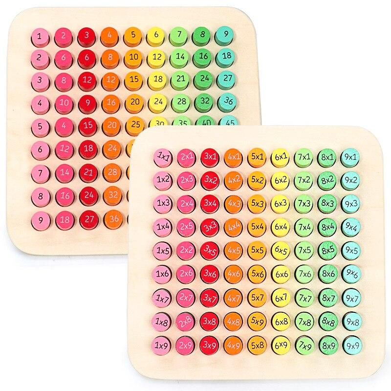 99 tabela de multiplicação montessori brinquedos educativos de madeira crianças brinquedos do bebê matemática aritmética auxiliares ensino crianças presentes