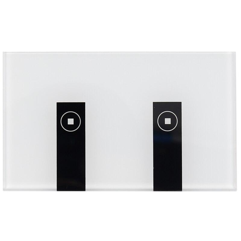 واي فاي مفتاح إضاءة ذكي ، 2 مفاتيح الصحافة لوحة الحائط اليكسا مفتاح الإضاءة ، في الجدار اللاسلكية تشغيل/إيقاف الجدار التبديل ، توقيت ، صوت Ap