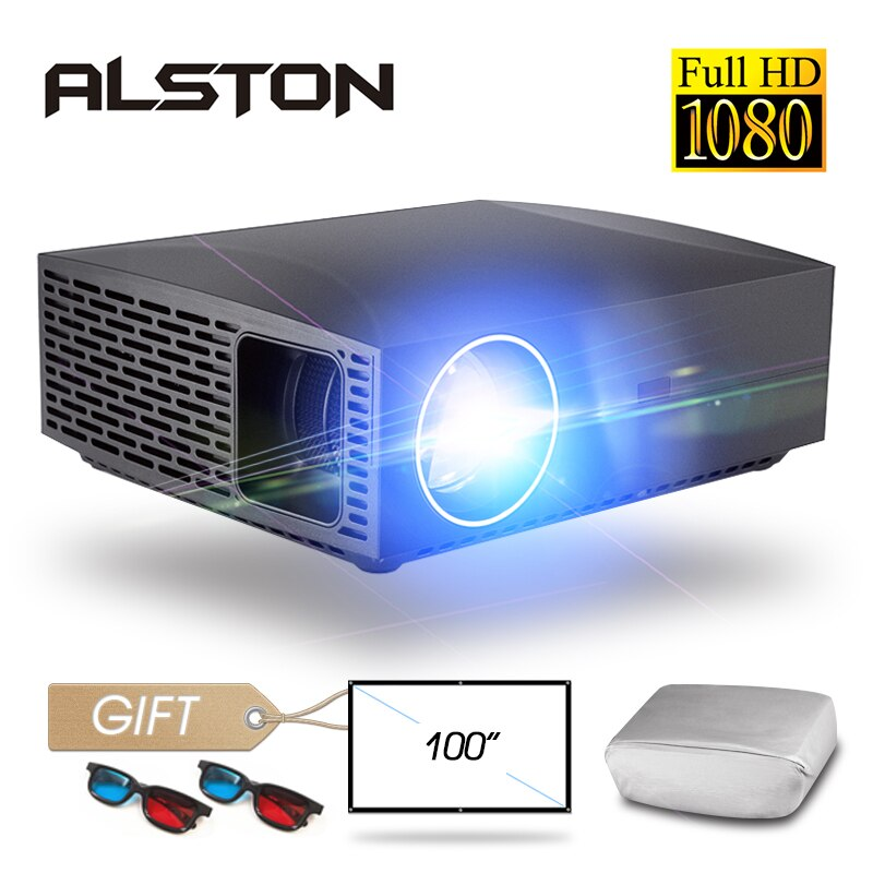 ALSTON-Proyector de cine F30 F30UP 4K, Full HD, 1080P, con 6500 lúmenes, Android, wi-fi, Bluetooth, HDMI, incluye un regalo